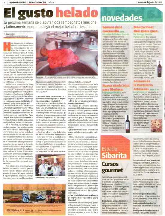 Diario tiempo argentino Junio 2013
