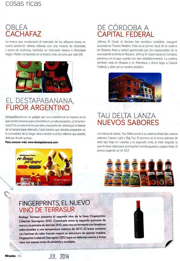 Revista Miradas - Cablevisión Julio 2014 0